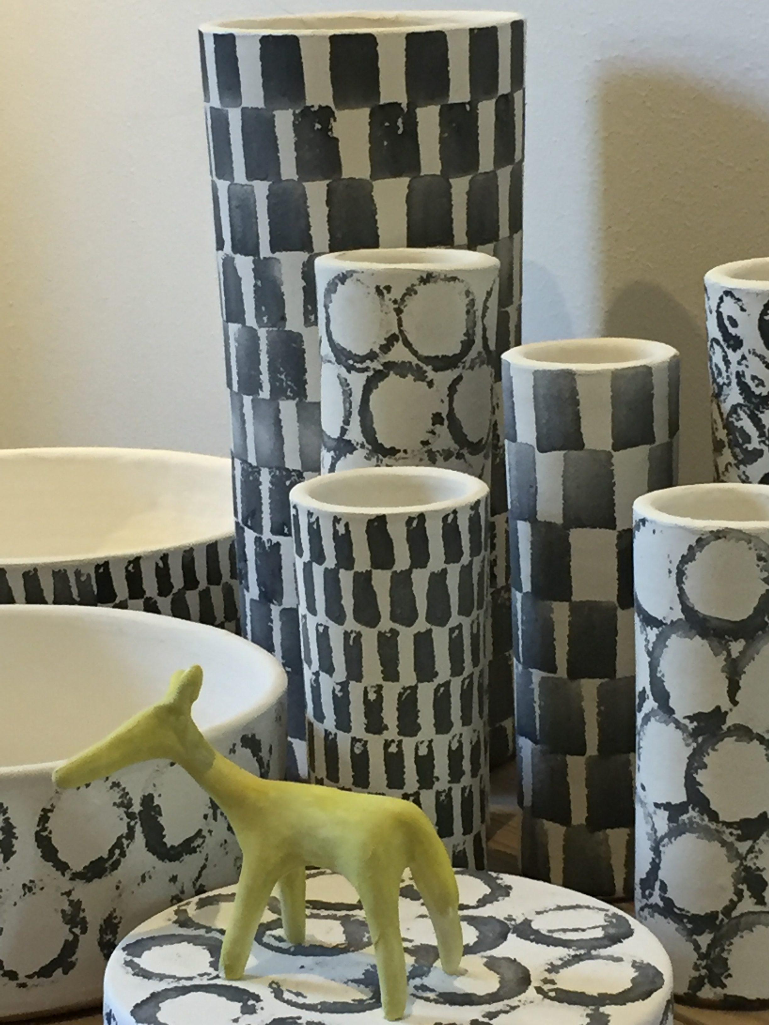 Keramik till fönsterutställning på Formargruppen