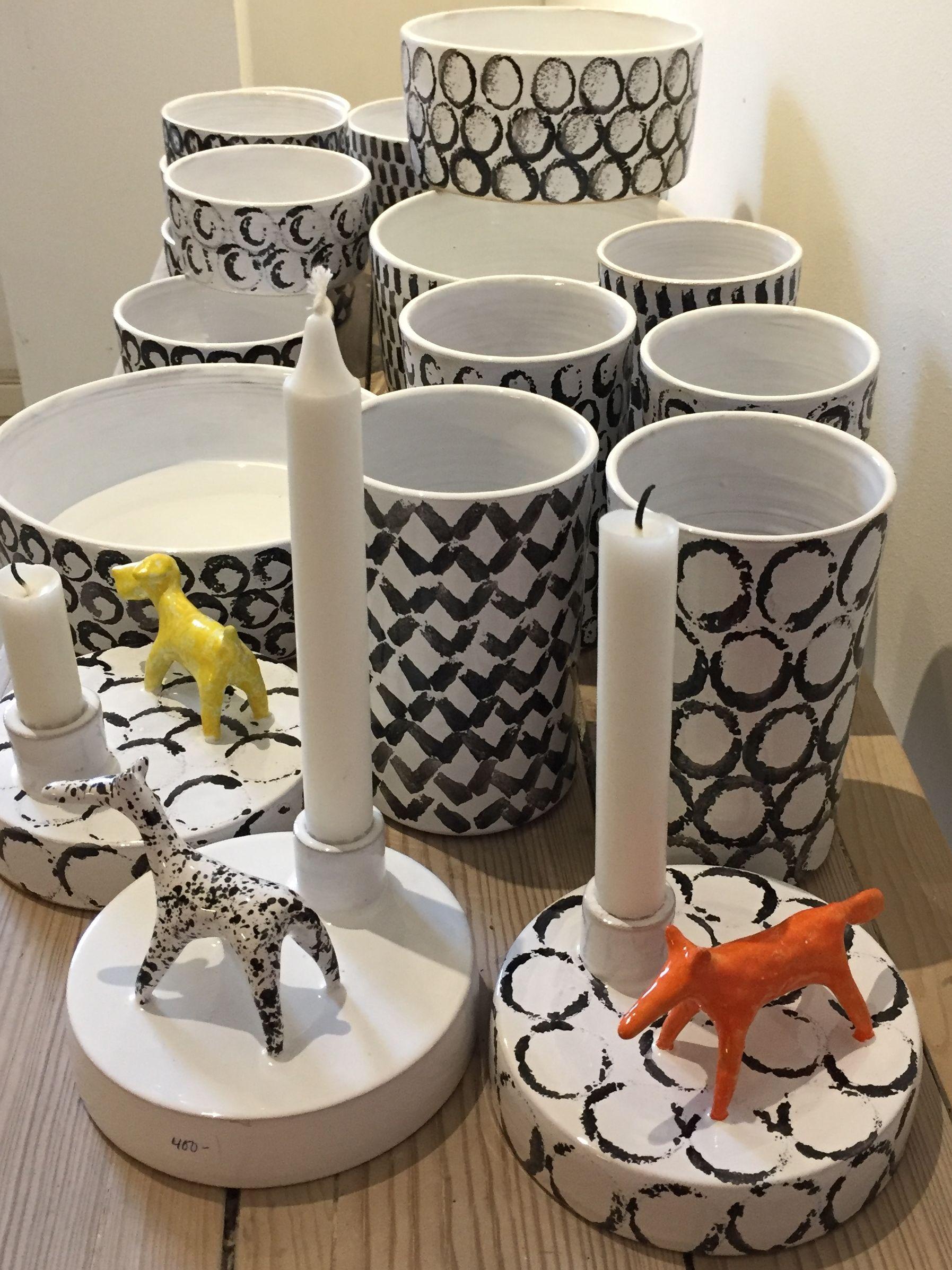 keramik vaser och ljusstakar