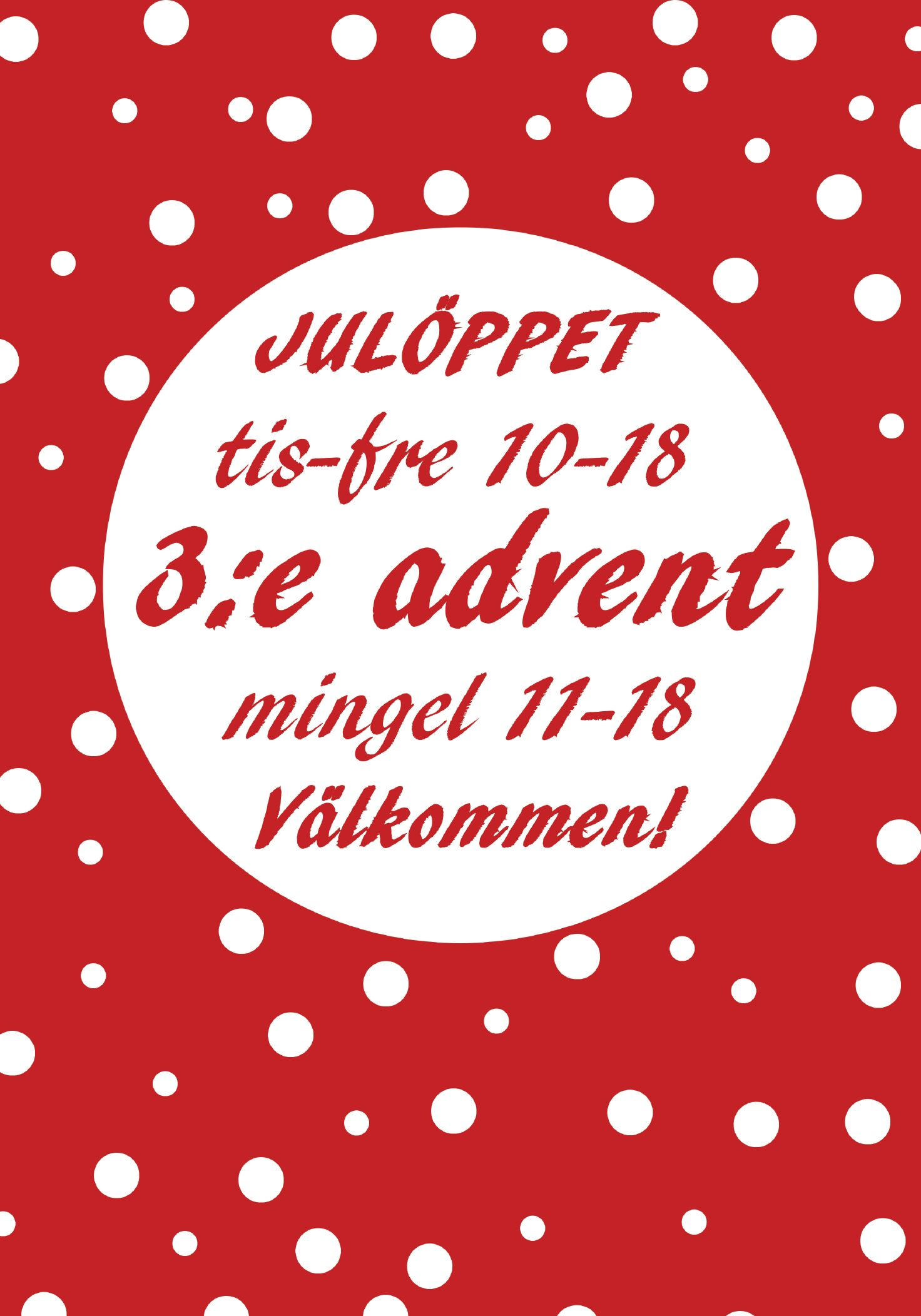 mingel 3:e advent