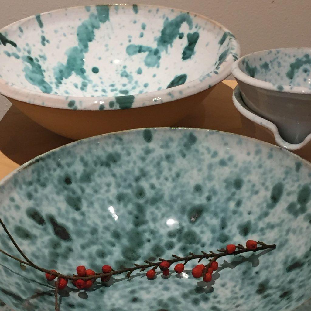 keramik skålar med stänk